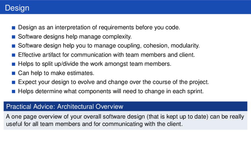 Design Design as an interpretation of requireme...