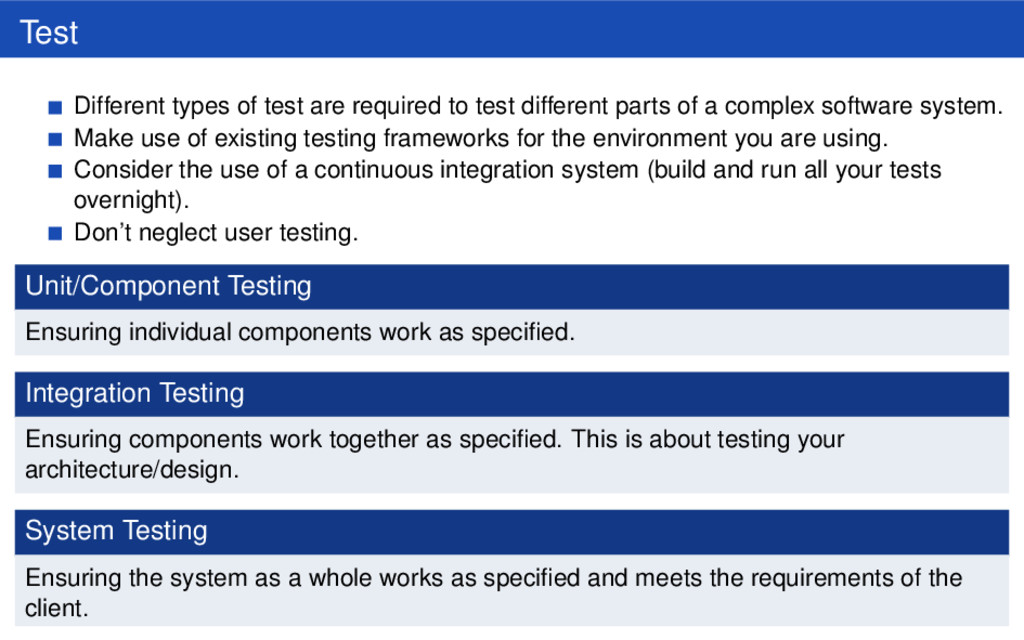 Test Different types of test are required to te...