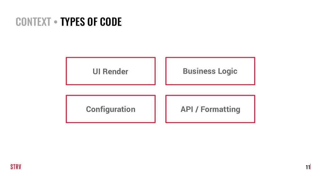 CONTEXT • TYPES OF CODE 11 UI Render Business L...