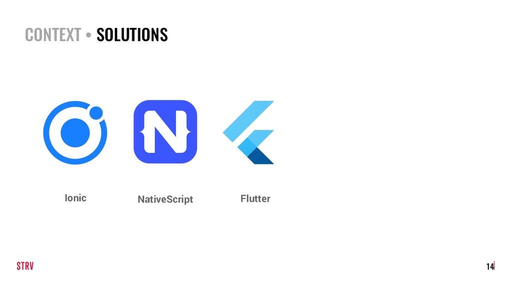 CONTEXT • SOLUTIONS 14 Flutter NativeScript Ion...