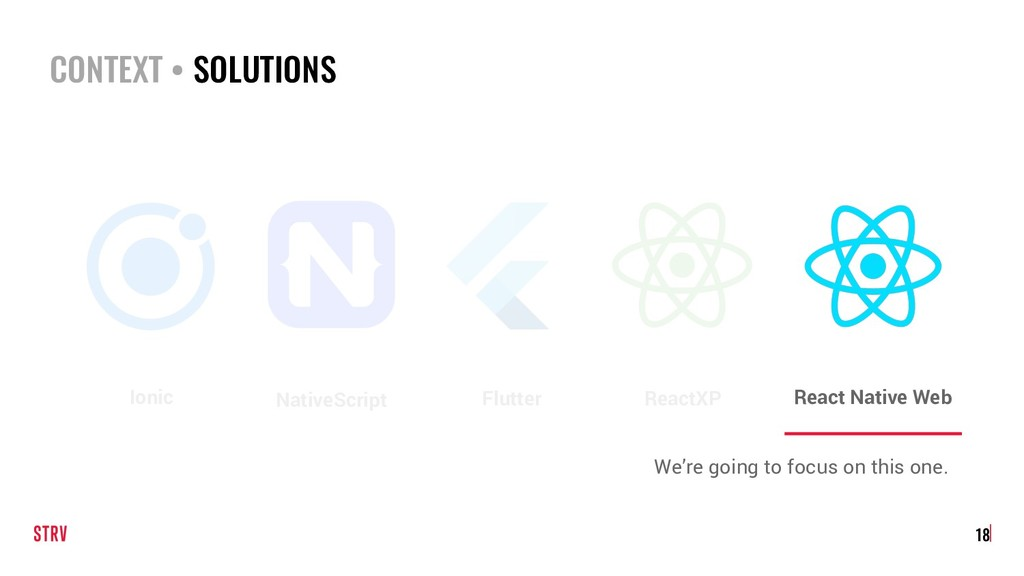 18 Flutter NativeScript Ionic We're going to fo...