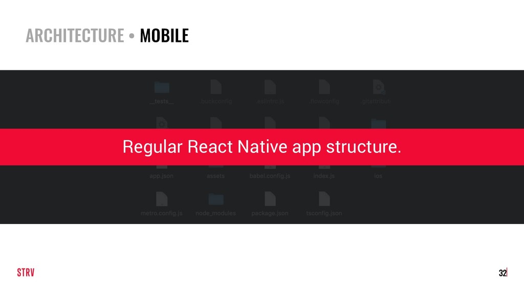 ARCHITECTURE • MOBILE 32 Regular React Native a...