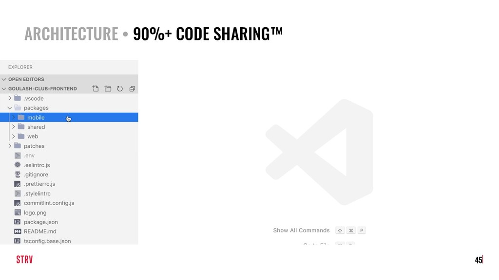 ARCHITECTURE • 90%+ CODE SHARING™ 45