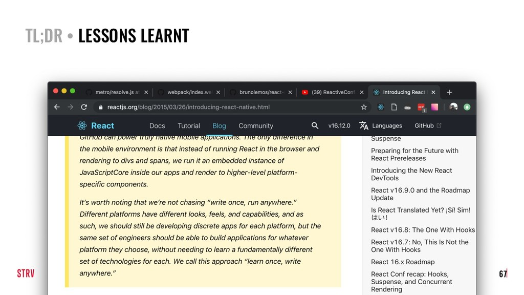 TL;DR • LESSONS LEARNT 67