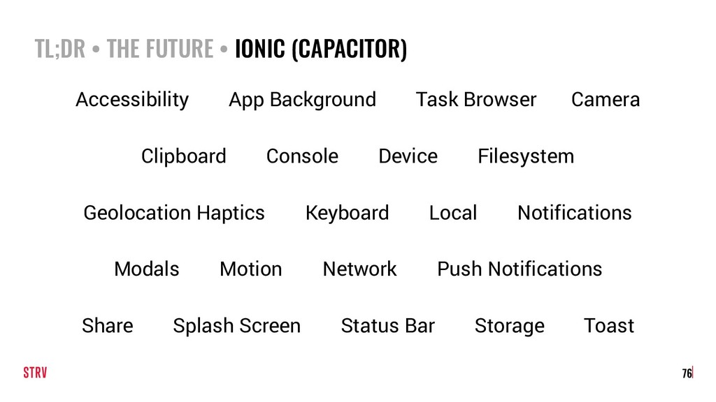 TL;DR • THE FUTURE • IONIC (CAPACITOR) 76 Acces...