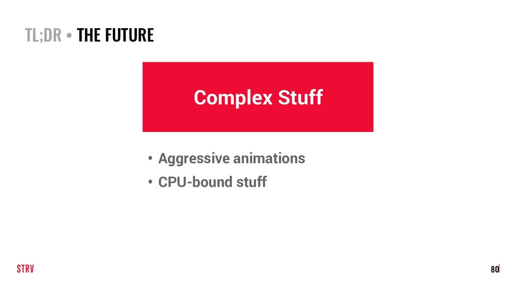 TL;DR • THE FUTURE 80 Complex Stuff • Aggressiv...