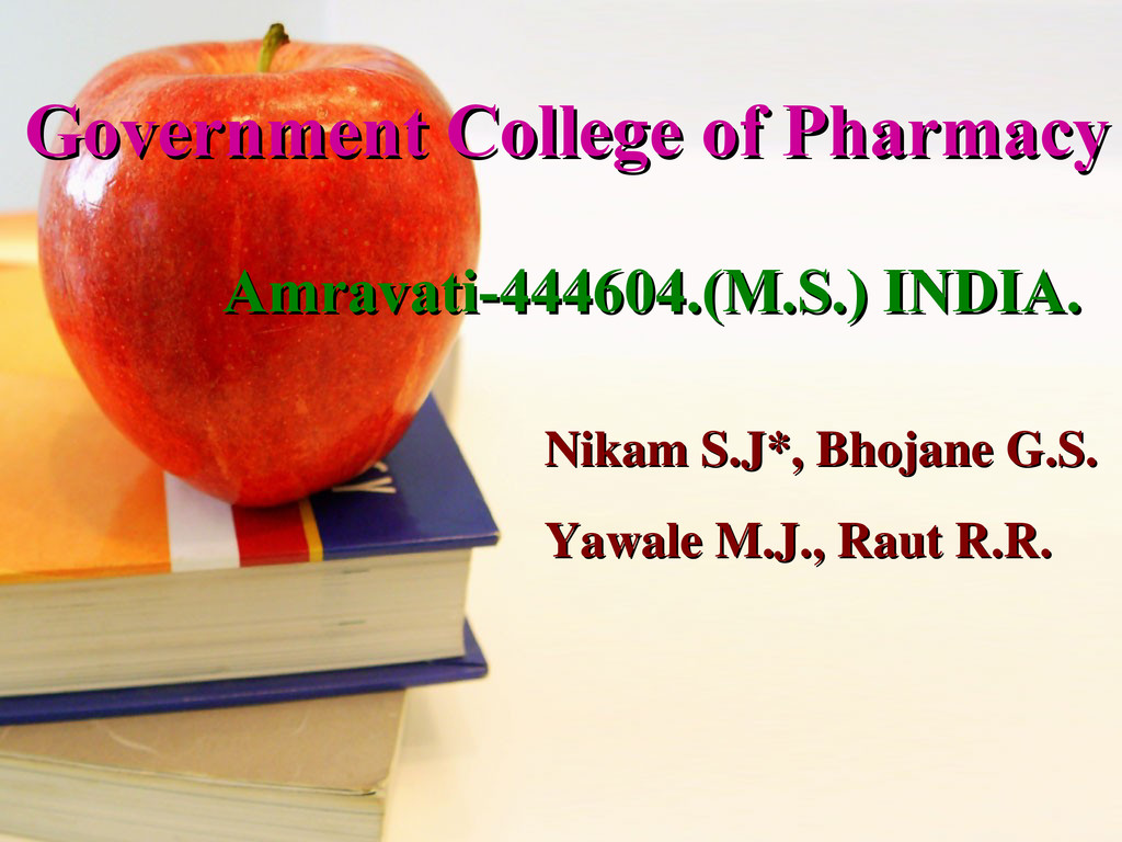 Government College of Pharmacy Government Colle...