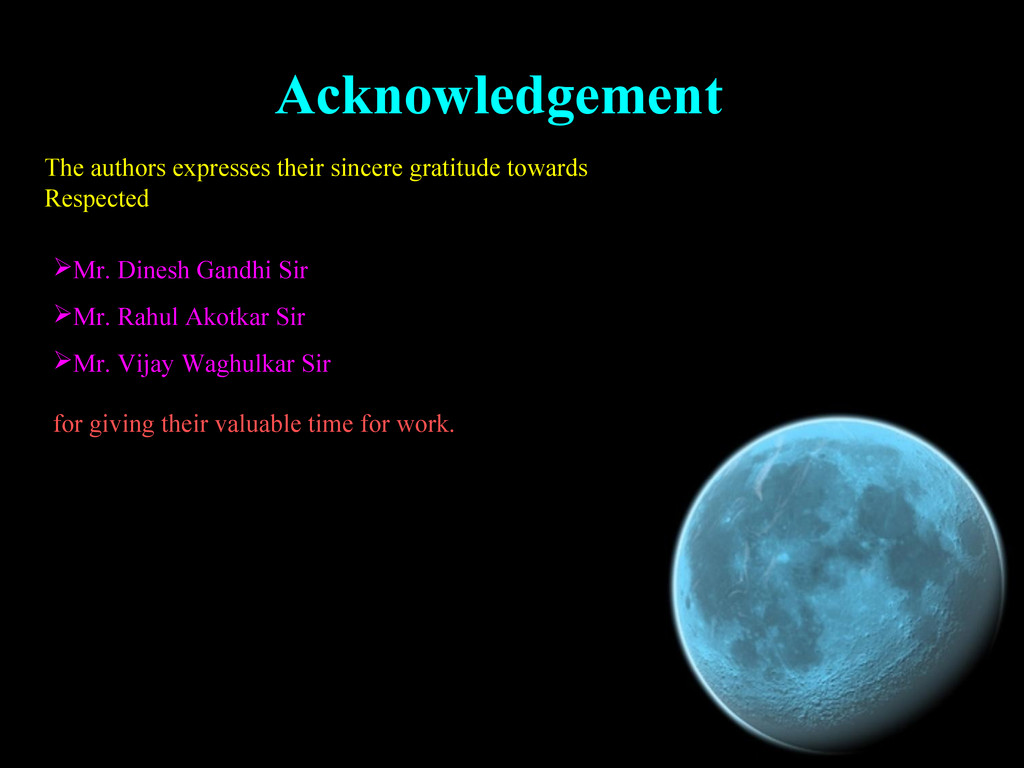 Acknowledgement Acknowledgement The authors exp...