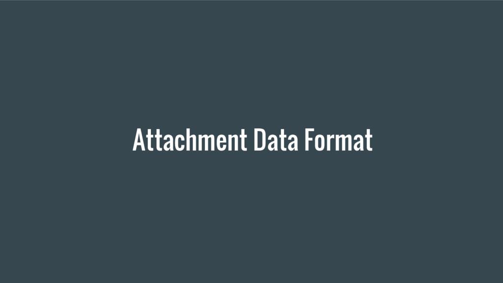 Attachment Data Format