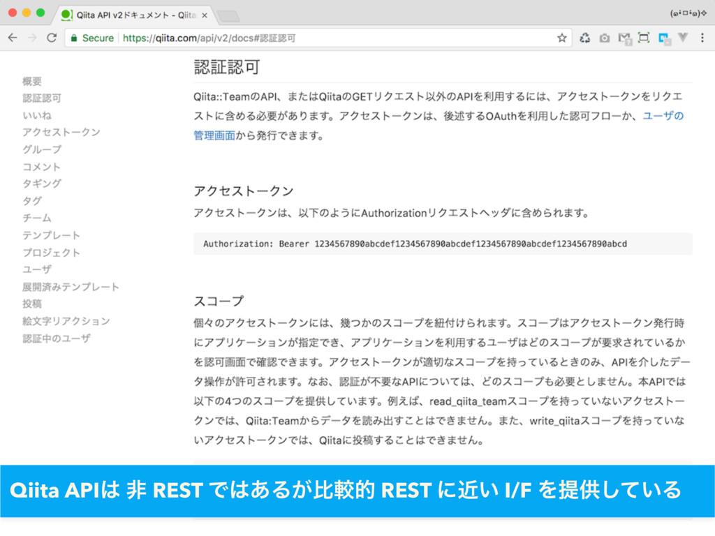 Qiita API ඇ REST Ͱ͋Δ͕ൺֱత REST ʹ͍ۙ I/F Λఏڙ͍ͯ͠Δ