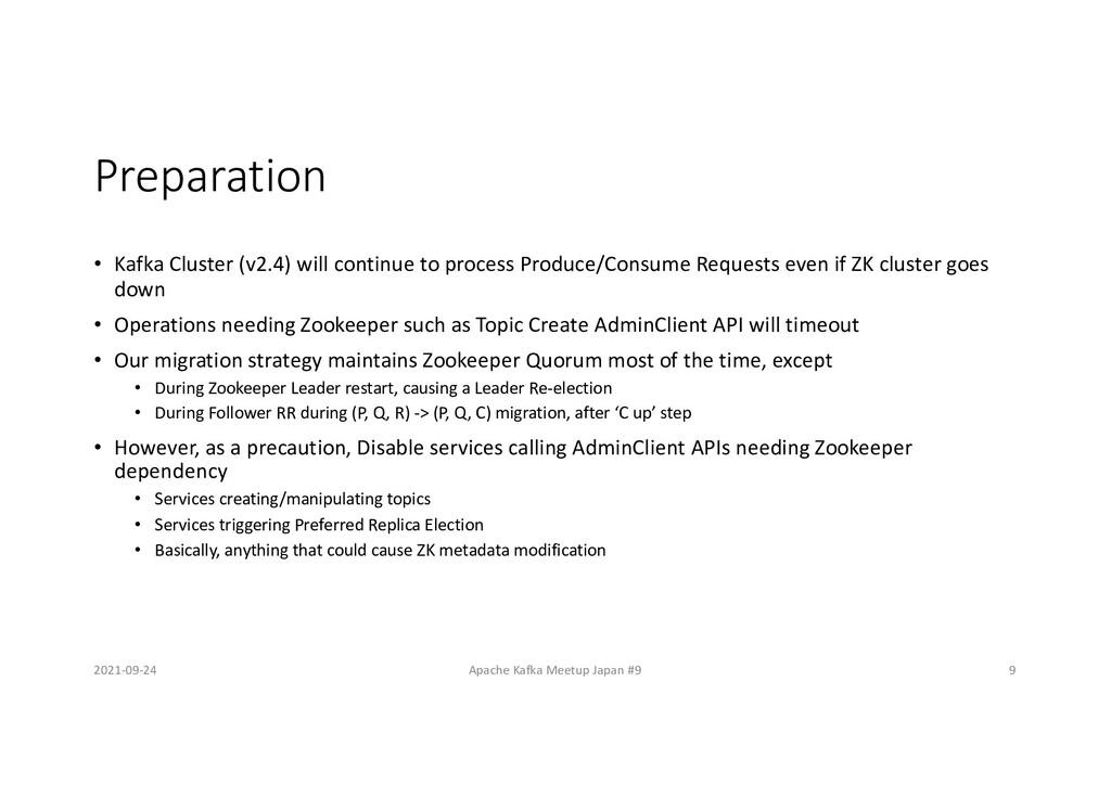Preparation • Kafka Cluster (v2.4) will continu...