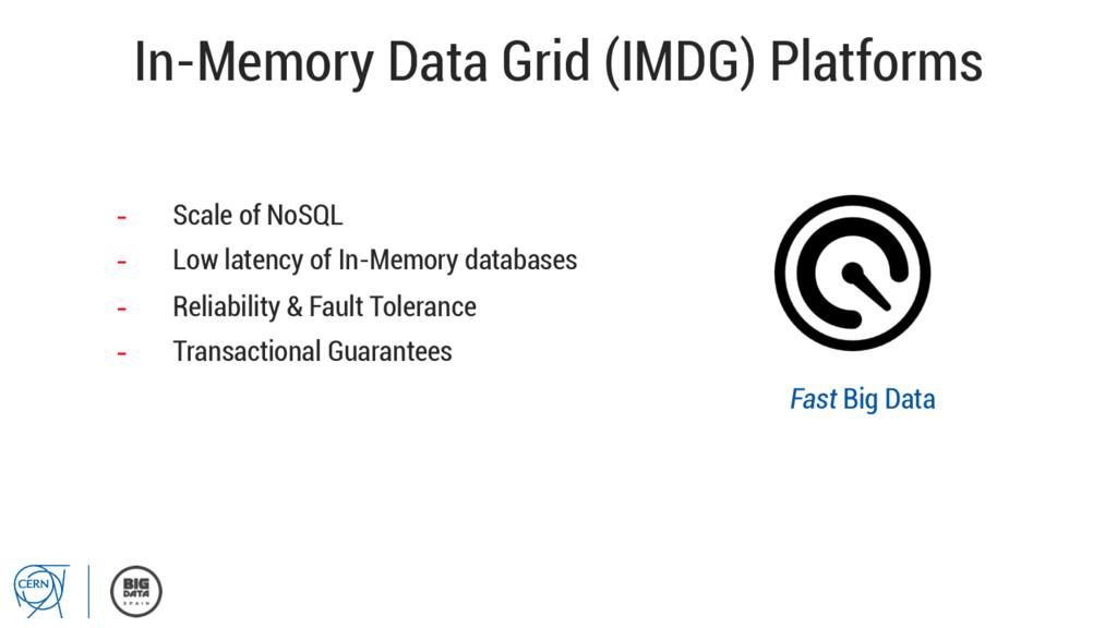 In-Memory Data Grid (IMDG) Platforms - Scale o...