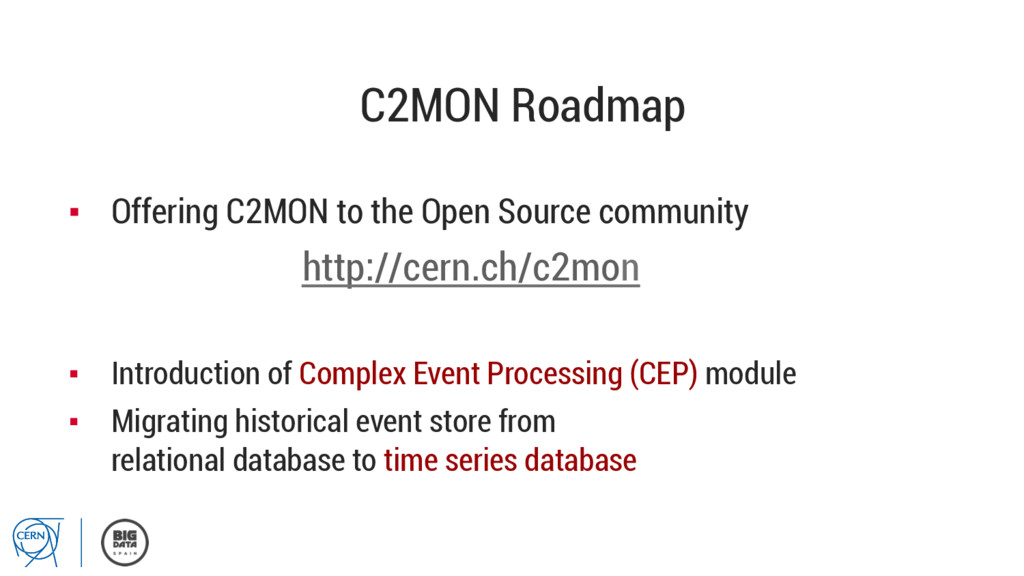 C2MON Roadmap ▪ Offering C2MON to the Open Sou...