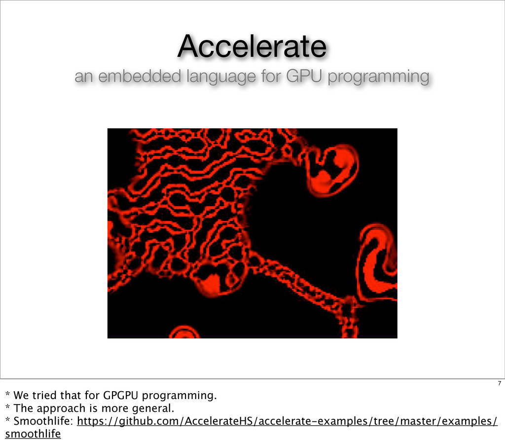 Accelerate an embedded language for GPU program...