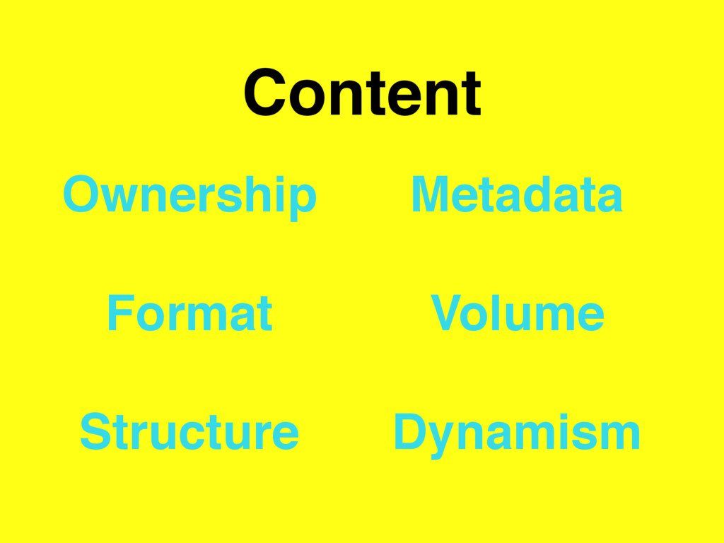 Content Ownership Format Structure Metadata Vol...