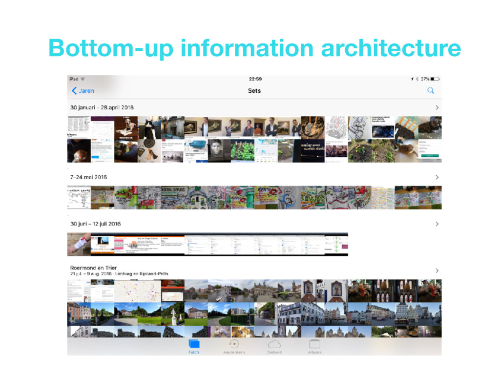 Bottom-up information architecture