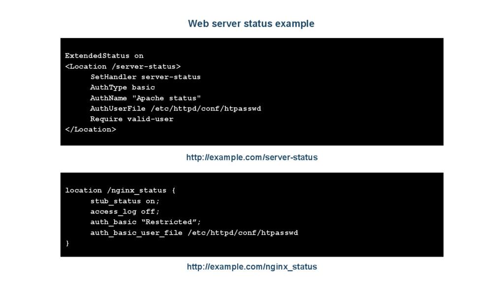 Web server status example ExtendedStatus on <Lo...