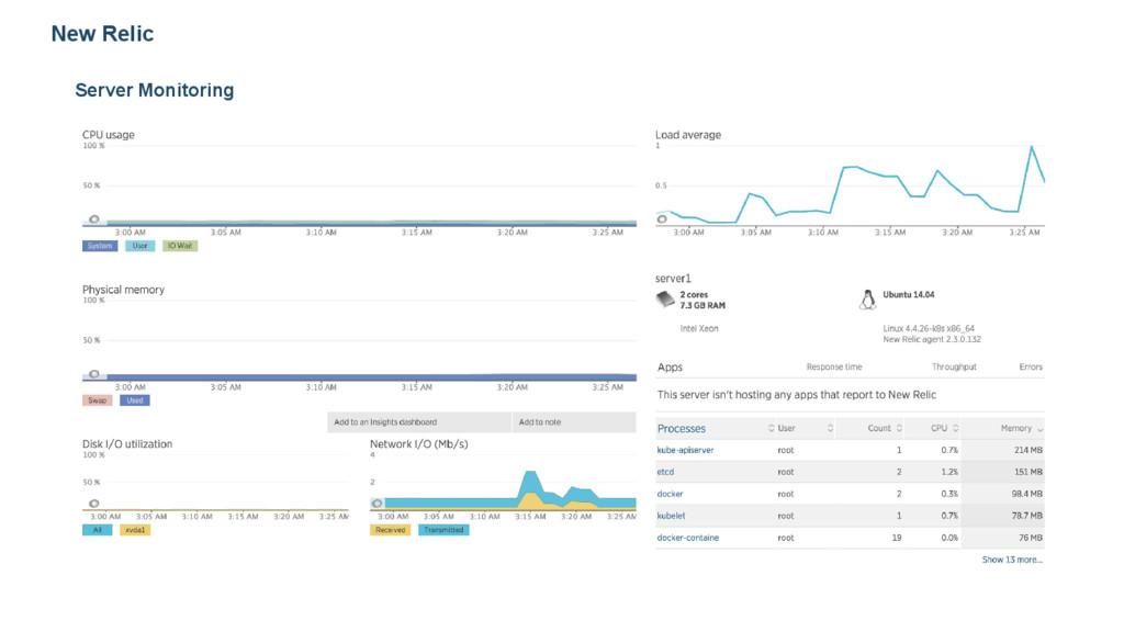 New Relic Server Monitoring