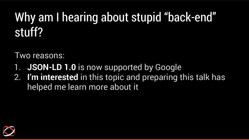 "Why am I hearing about stupid ""back-end"" stuff?..."