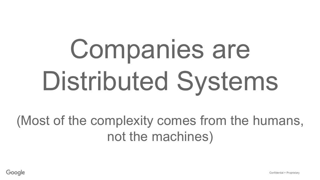 Confidential + Proprietary Companies are Distri...