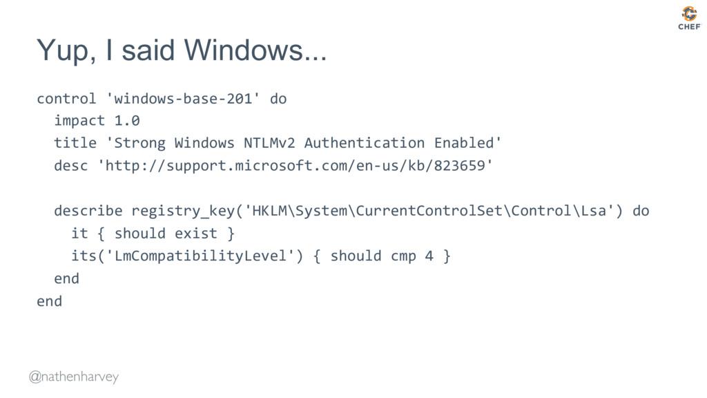 @nathenharvey Yup, I said Windows... control 'w...