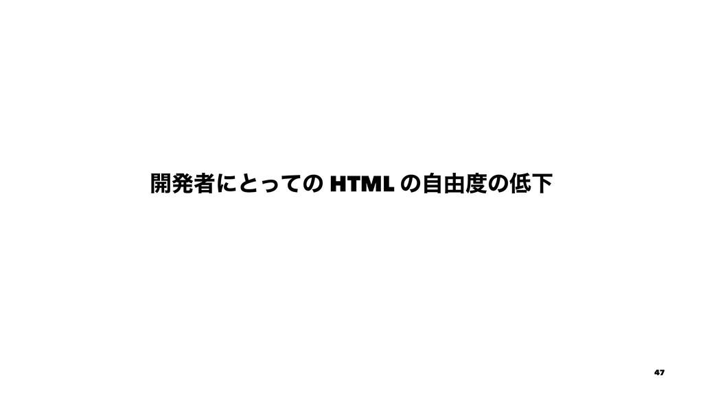 ։ൃऀʹͱͬͯͷ HTML ͷࣗ༝ͷԼ 47