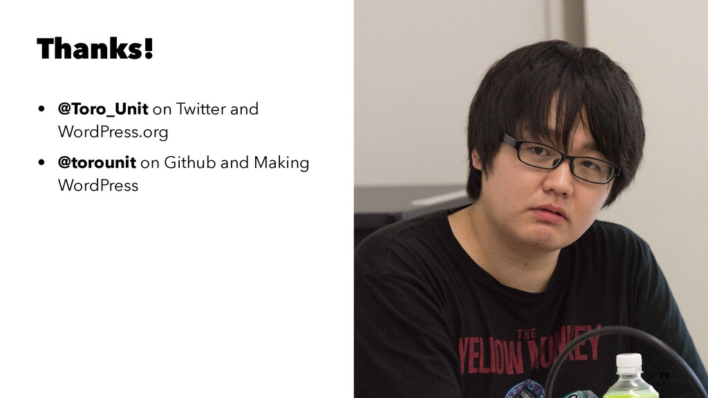 Thanks! • @Toro_Unit on Twitter and WordPress.o...