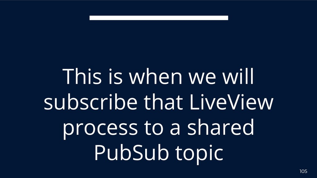 105 This is when we will subscribe that LiveVie...