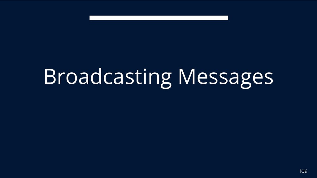 106 Broadcasting Messages