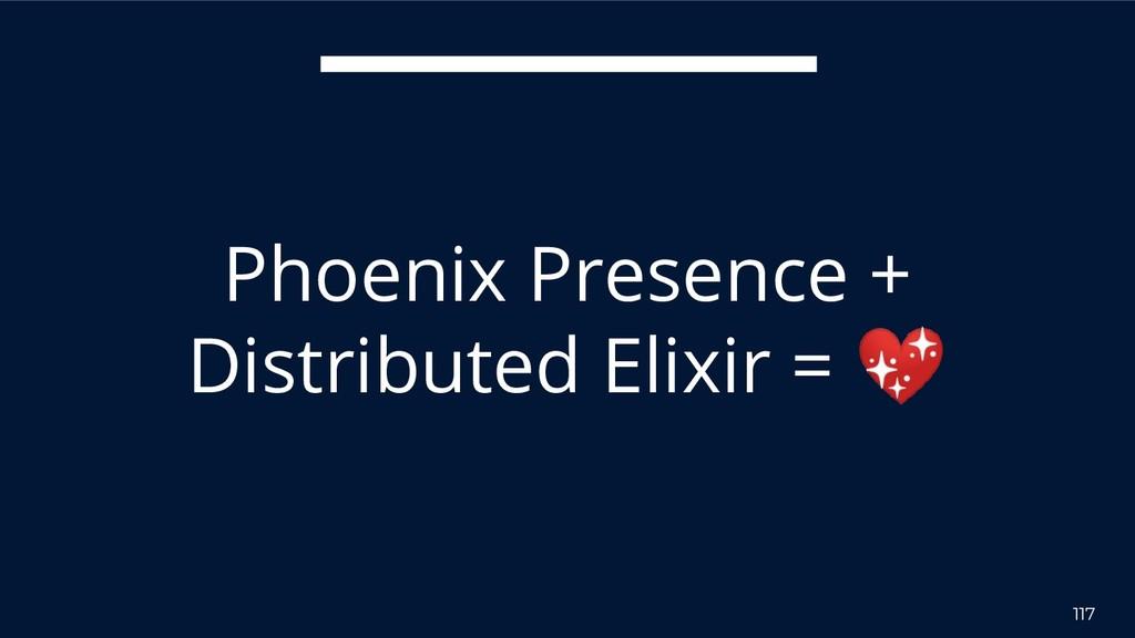117 Phoenix Presence + Distributed Elixir =