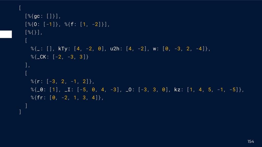 154 [ [%{gc: []}], [%{O: [-1]}, %{f: [1, -2]}],...