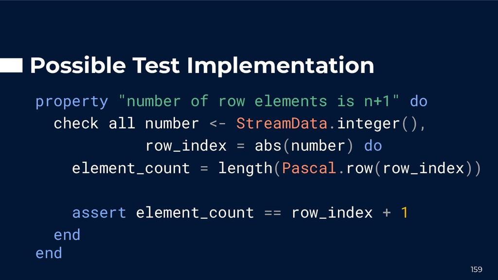 "Possible Test Implementation property ""number o..."