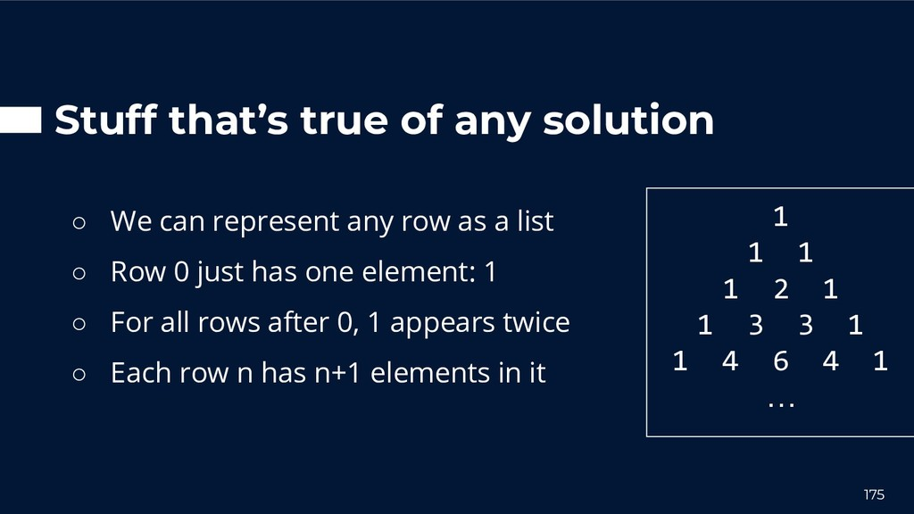 Stuff that's true of any solution ○ We can repr...