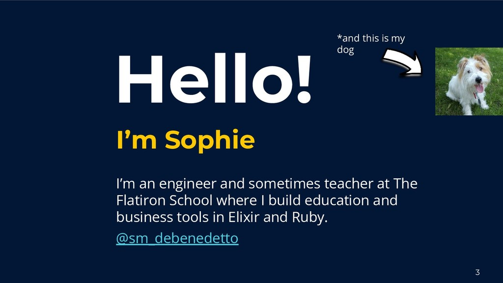 Hello! I'm Sophie I'm an engineer and sometimes...