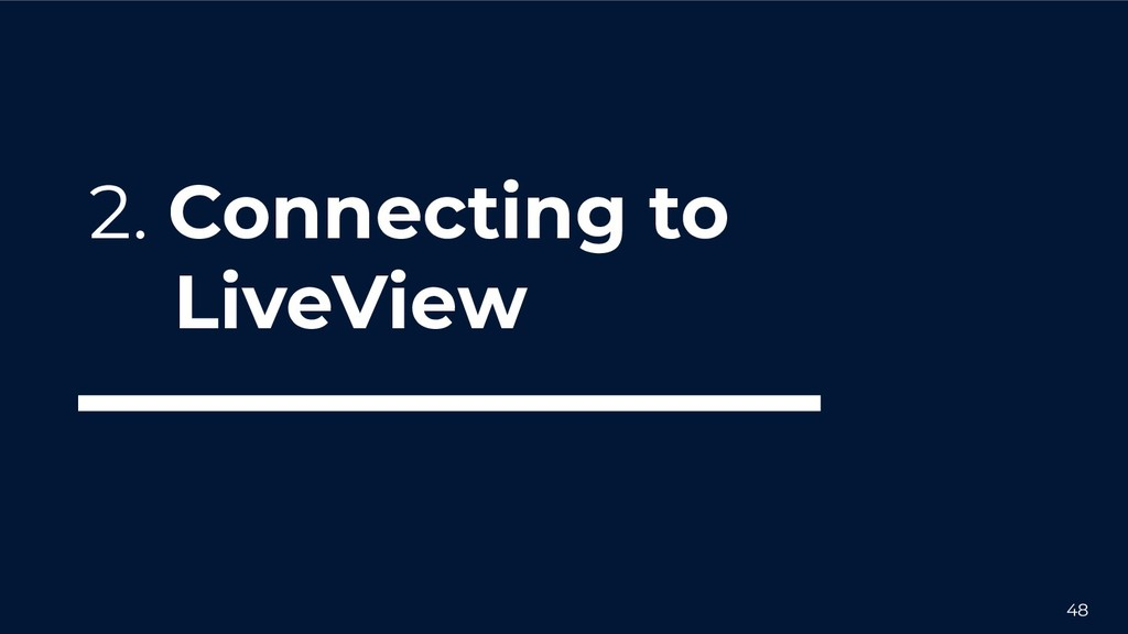 48 2. Connecting to LiveView