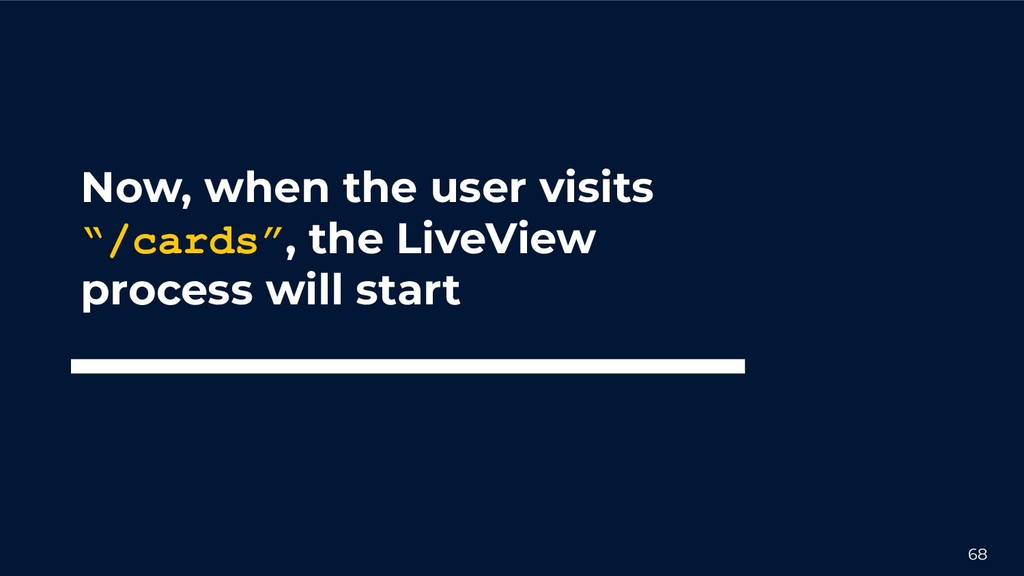 """68 Now, when the user visits """"/cards"""", the Live..."""