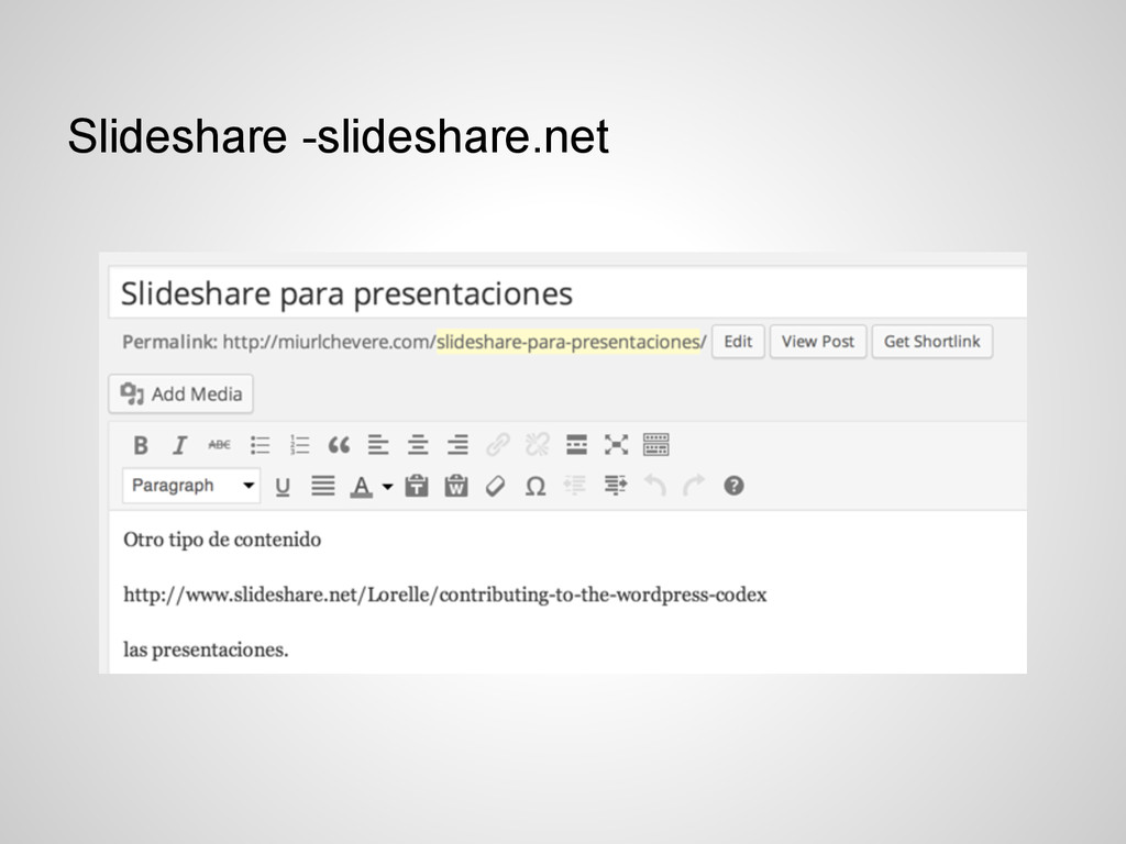 Slideshare -slideshare.net