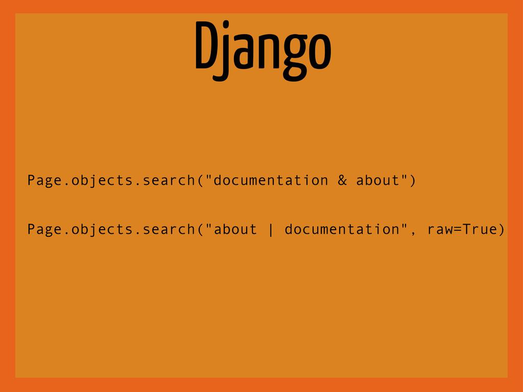 "Django Page.objects.search(""documentation & abo..."