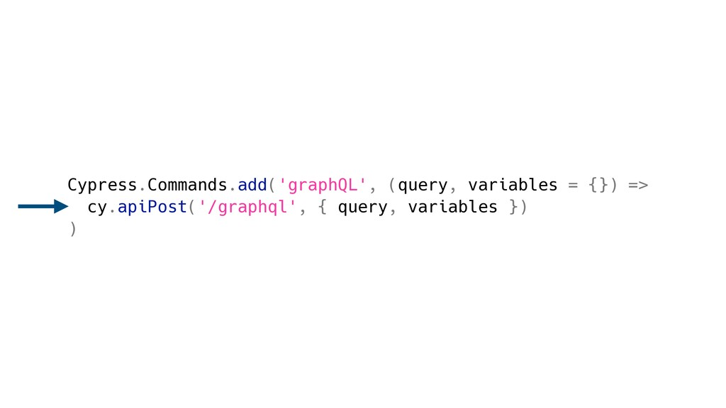 Cypress.Commands.add('graphQL', (query, variabl...