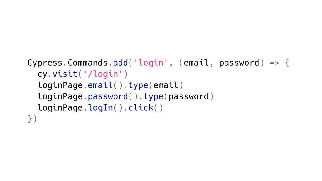 Cypress.Commands.add('login', (email, password)...