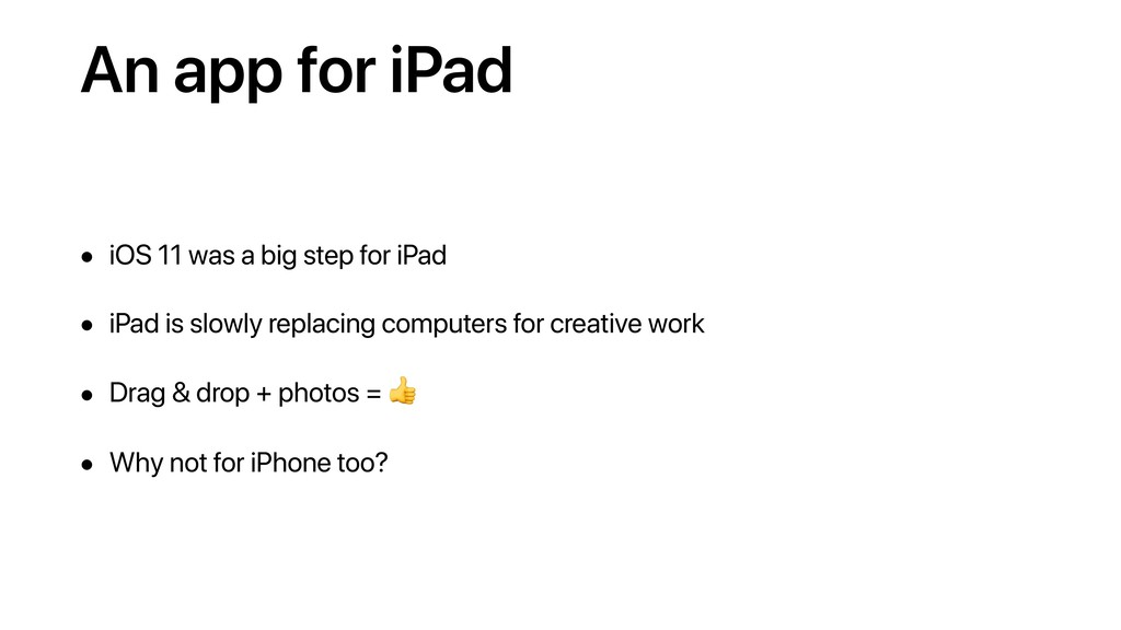 An app for iPad • iOS 11 was a big step for iPa...