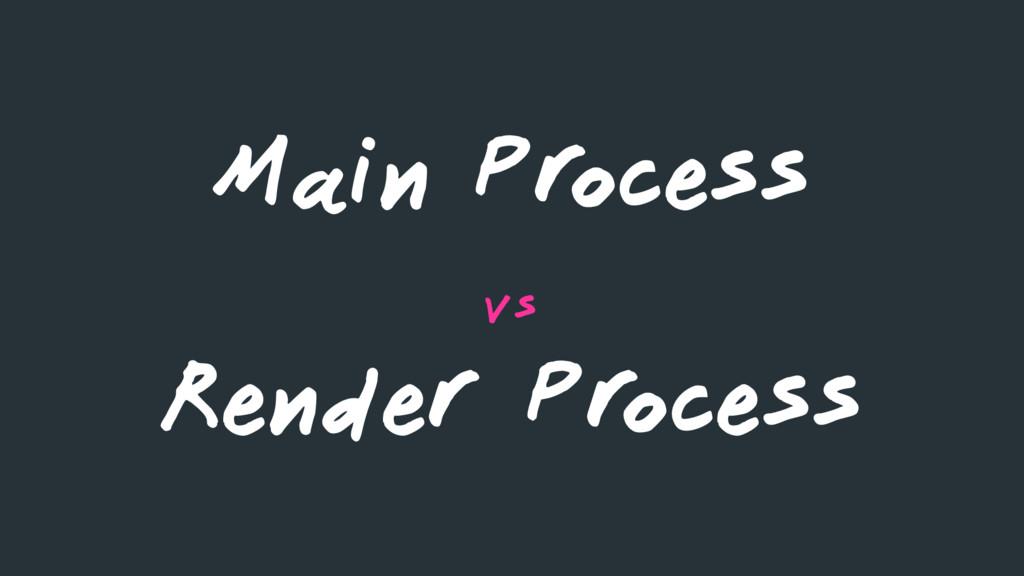 Main Process vs Render Process