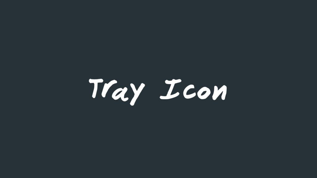 Tr ay Icon