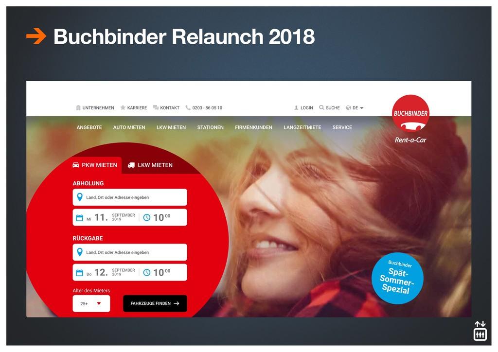 Buchbinder Relaunch 2018 Durchschnittlich 26% m...