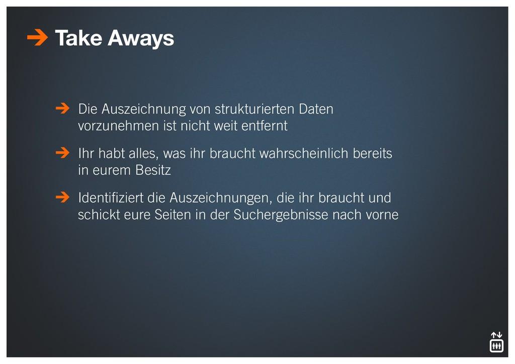 Take Aways Die Auszeichnung von strukturierten ...