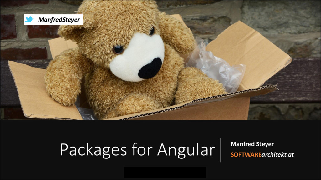 Packages for Angular Manfred Steyer SOFTWAREarc...