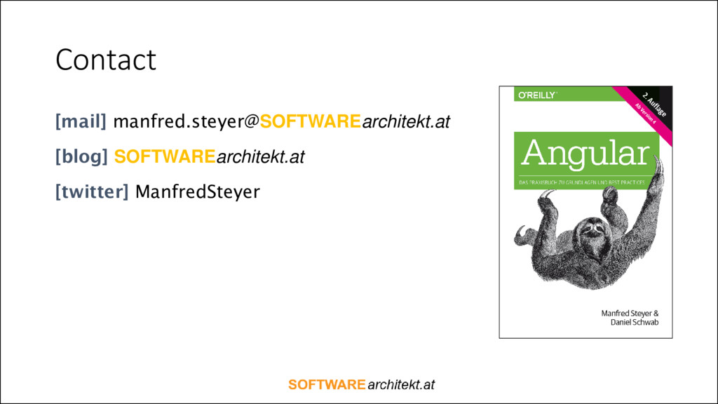Contact [mail] manfred.steyer@SOFTWAREarchitekt...