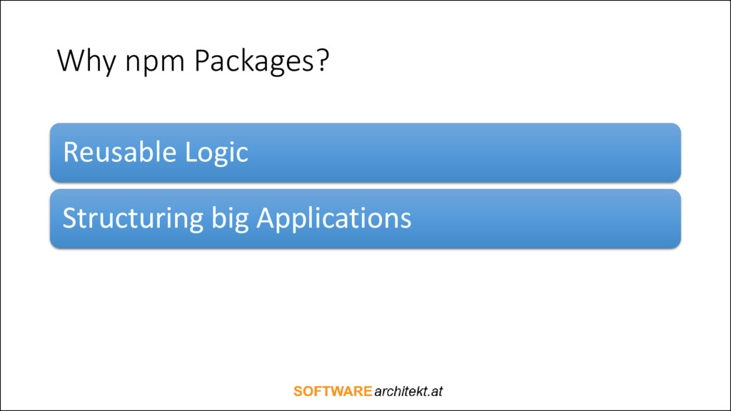 Why npm Packages? Reusable Logic Structuring bi...