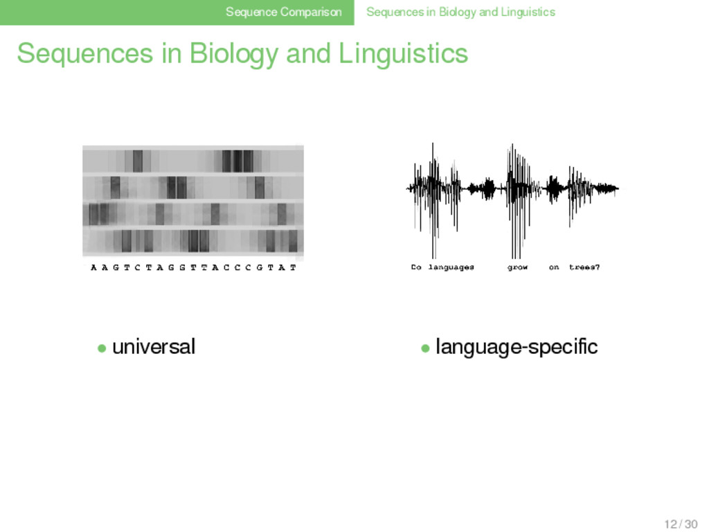 Sequence Comparison Sequences in Biology and Li...