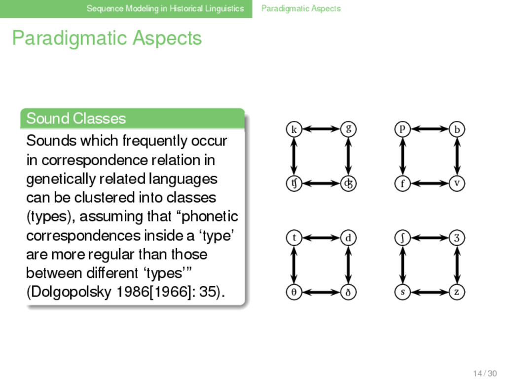 Sequence Modeling in Historical Linguistics Par...